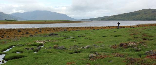 10 view down Loch Alsh from Dornie, Ruth's coastal walk around Scotland