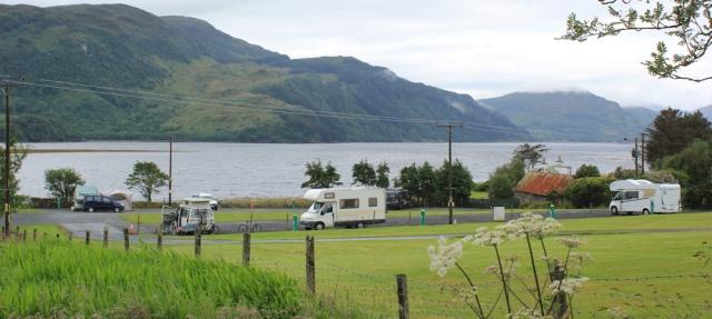 13 campsite at Ardelve, Ruth's coastal walk around Scotland