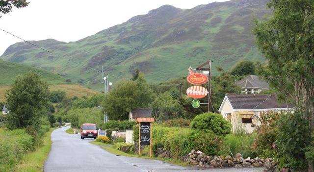 14 Ardelve, pizza house and post office van, Ruth's coastal walk around Scotland