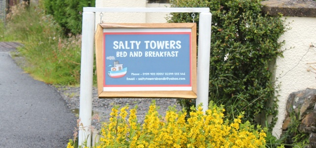 16 Salty Towers Bed and Breakfast, Ruth's coastal walk around Scotland