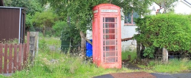 17 Ardelve, phone box, Ruth's coastal walk around Scotland