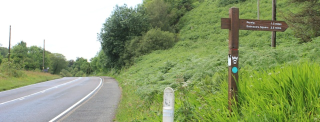 29 ignoring the footpath to Reraig, Ruth's coastal walk around Scotland