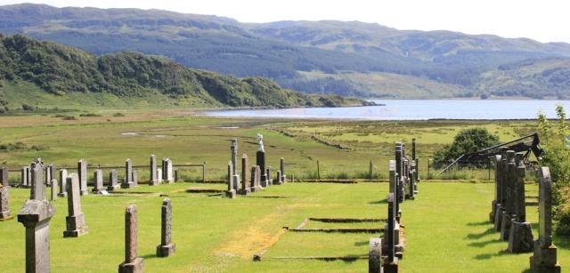 32 lunchtime view, Ruth's coastal walk around Scotland