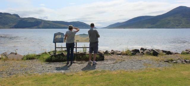 37 View down Loch Alsh from Balmacara, Ruth's coastal walk around Scotland