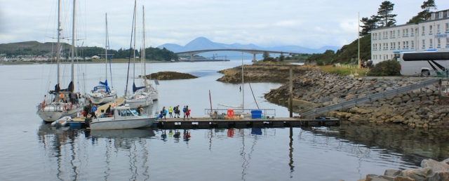 01 parking place, Kyle of Lochalsh, and Skye Bridge