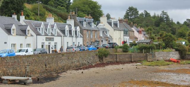 02 Plockton street, Ruth walking the coast of the Scottish Highlands