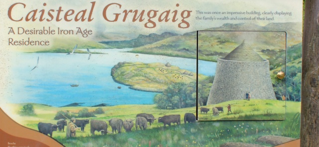 05 information board about Caisteal Grugaig, Glenelg, Ruth's coastal walk around Scotland