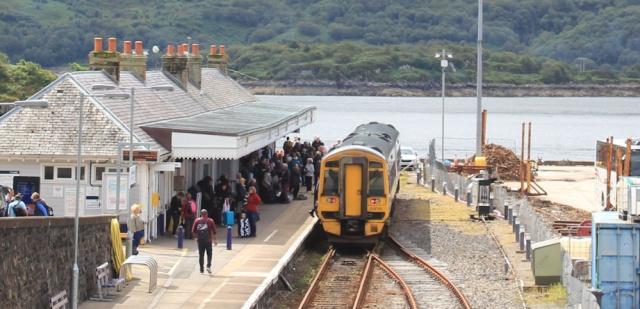 07 Kyle Station, Ruth walking the coast of the Scottish Highlands