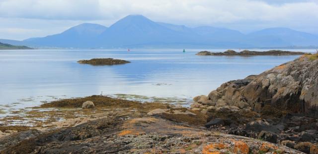 10 rocky beach and Skye, from Plock, Ruth's coastal walk around the Highlands of Scotland