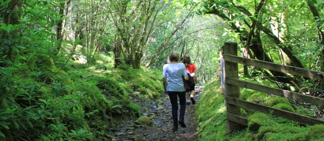 12 family walking, Duncraig, Ruth hiking round the coast of Scotland