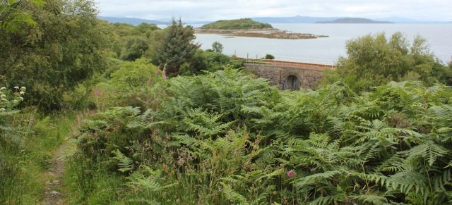 15 footpath to shore, Badicaul, Ruth walking the coast of the Scottish Highlands