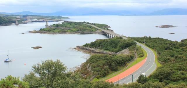 17 Skye Bridge from viewpoint, the Plock, Ruth's coastal walk, Scotland