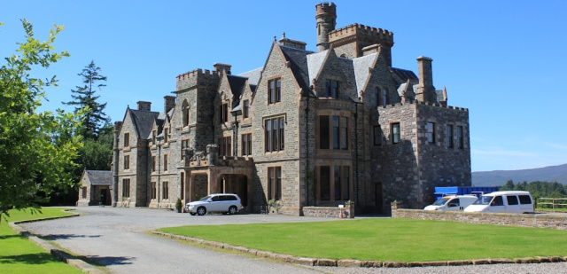 19 Duncraig Castle, stately home, Ruth hiking round the coast of Scotland