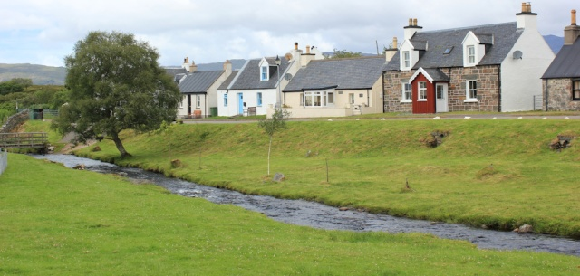 28 pretty cottages, Duirinish, Ruth walking the coast of the Scottish Highlands