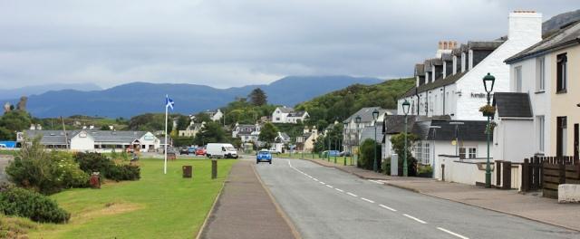 30 Kyleakin main street, Ruth crossing Skye Bridge, coastal walk