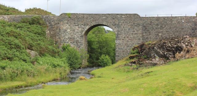 30 main road bridge, Duirinish, Ruth walking the coast of the Scottish Highlands
