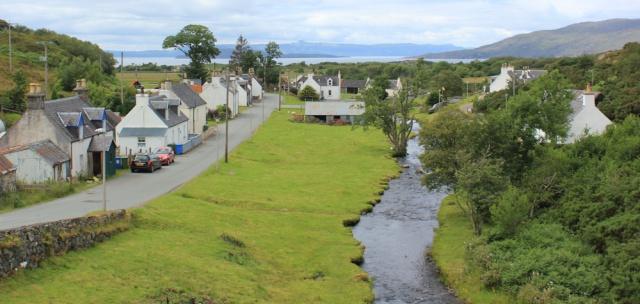 31 Duirinish village, Ruth walking the coast of the Scottish Highlands
