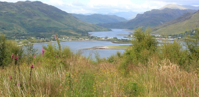33 looking over Dornie, Ruth's coastal walk from Ardintoul toTotaig, Glenelg, Scotland