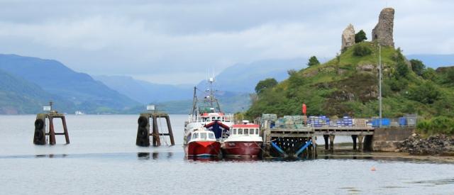 33 Pier at Kyleakin, Ruth crossing Skye Bridge, coastal walk