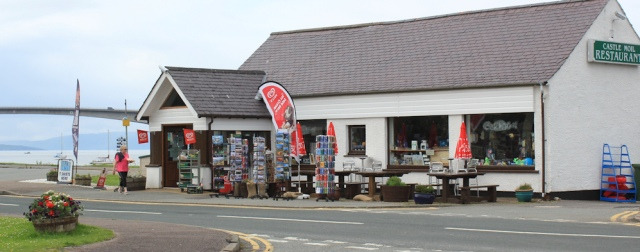 34 Catle Moil restaurant, Ruth crossing Skye Bridge, coastal walk