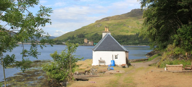 34 cottage at Totaig, Ruth's coastal walk around Glenelg, second attempt, Scotland