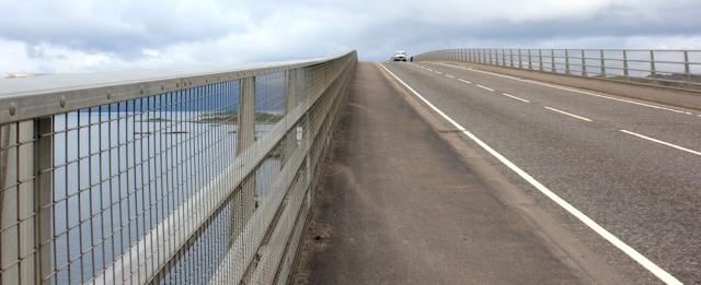 36 back over Skye Bridge, Ruth's coastal walk, Scotland