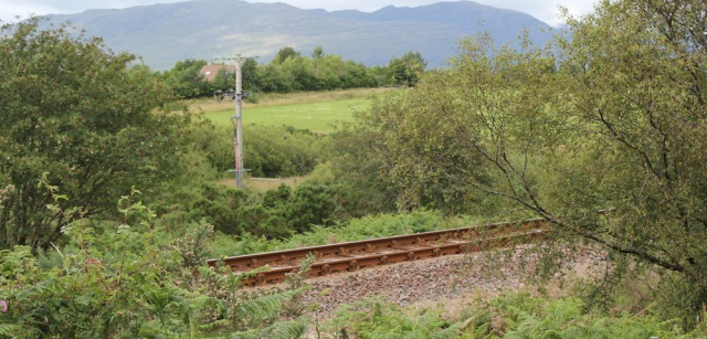 36 railway line to Plockton, Ruth on road in Scotland