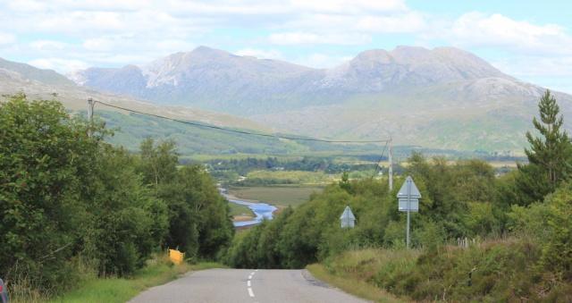 59 view downhill to River Carron, Ruth's coastal walk around Scotland