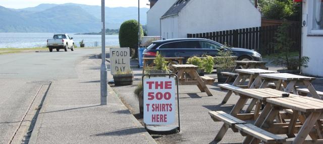 89 The 500 T Shirts, Ruth walking to Lochcarron, Scotland