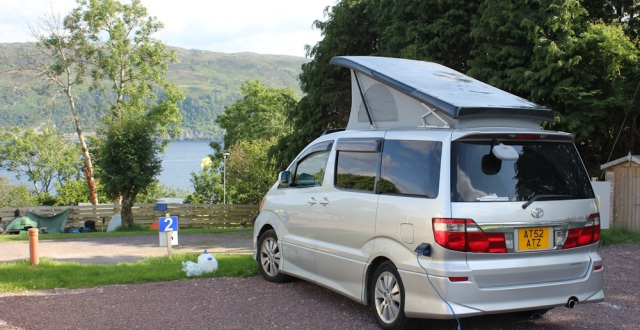91 the electric Beast, Ruth walking to Lochcarron, Scotland
