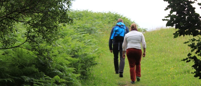 wakers, Ruth hiking the coast of Scotland