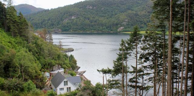 08 lochside residence, Loch Carron, Ruth's coastal walk around Scotland