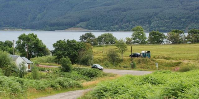 10 turn off to Stome Castle, Loch Carron, Ruth's coastal walk around Scotland