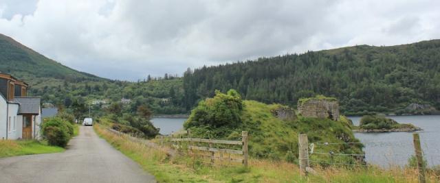 12 Ruins of Strome Castle, Loch Carron, Ruth's coastal walk around Scotland