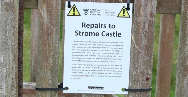 17 repairs to Strome Castle, Loch Carron, Ruth's coastal walk around Scotland
