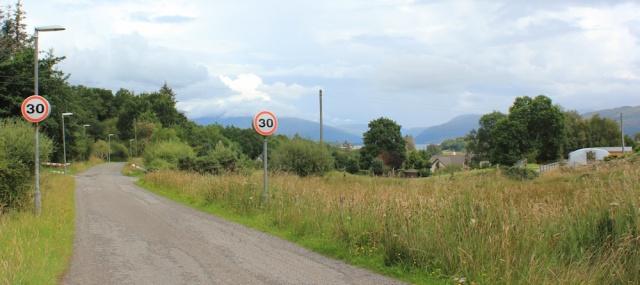 28 approaching Lochcarron from Ardaneaskan, Ruth's coastal walk around Scotland