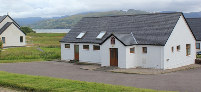 35 Church of Free Scotland, Loch Carron, Ruth's coastal walk around Scotland