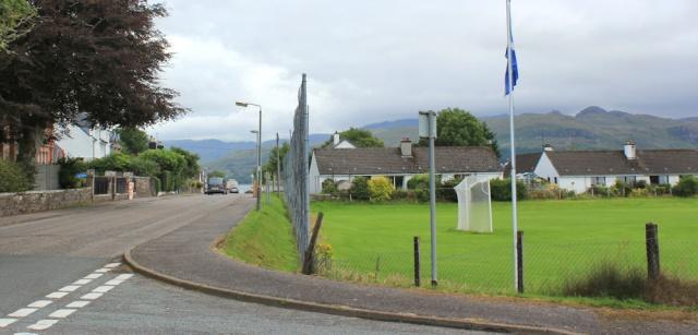 37 Shinty field, Loch Carron, Ruth's coastal walk around Scotland