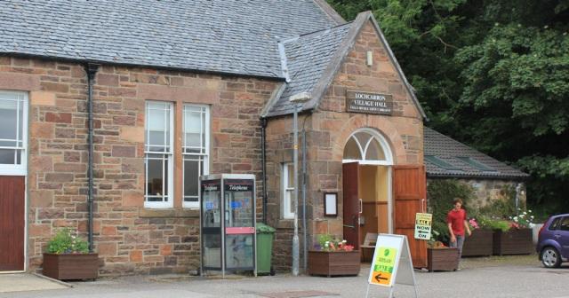 44 outdoor clothing sale, village hall, Lochcarron, Ruth's coastal walk around the UK, Scotland