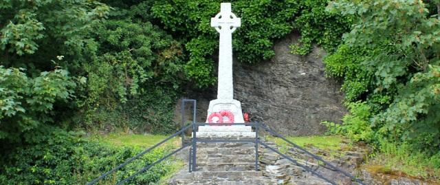 45 war memorial, Lochcarron, Ruth's coastal walk around the UK, Scotland