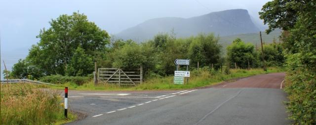 03 turnoff to Achintraid, Ruth's coastal walk Scottish Highlands