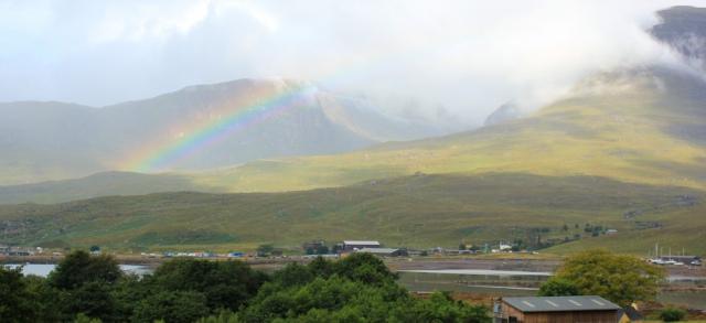 04 rainbow over the Applecross Pass, Ruth's coastal walk Scottish Highlands