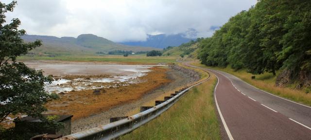 05 A896 through Kishorn along the river, Ruth's coastal walk Scottish Highlands