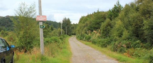 06 path from Ardaneaskan, Ruth walking the coast of Scotland