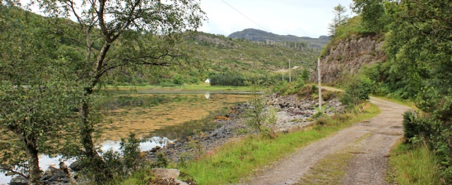 07 Loch Reraig, Ruth walking the coast of Scotland