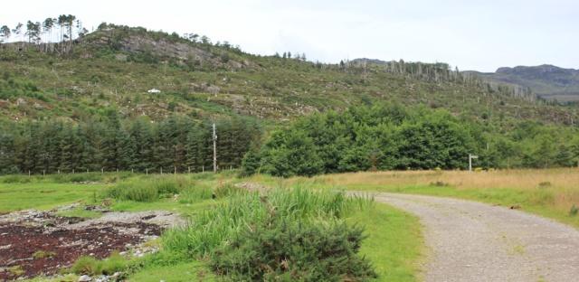 09 valley floor, Loch Reraig, Ruth walking the coast of Scotland