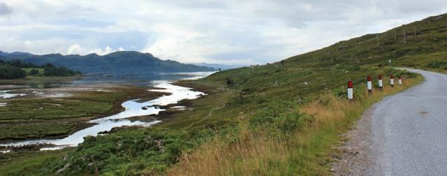 09 view up Loch Kishorn from Tornapress,Ruth's coastal walk Scottish Highlands