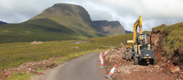 13 road widening, Applecross Pass, Ruth's coastal walk Scottish Highlands