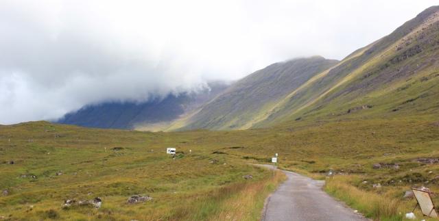 15 climbing higher, Applecross Pass, Ruth's coastal walk Scottish Highlands