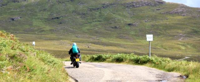 18 touring motorbikes, Applecross Pass, Ruth's coastal walk Scottish Highlands